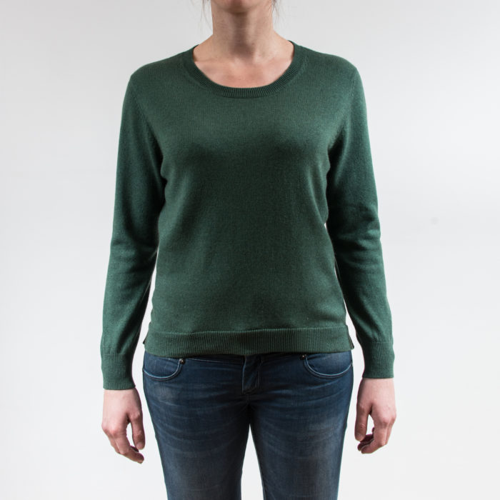Infinite Horizon - Pull Cachemire et Soie - Femme Long Do Vert - Face